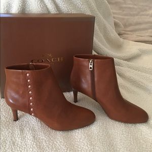 BRAND NEW Coach Booties size 8 Brown Leather